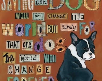 Dog World Forever, art print