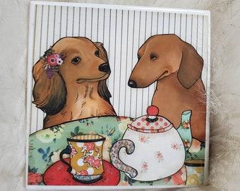 Together Tea, dachshund coaster