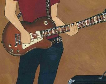 Rock On, guitar art print