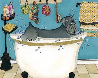Wash Your Schnauzer, dog art print
