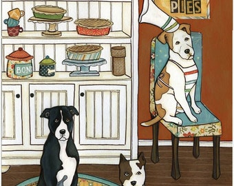 Pits and Pies, art print