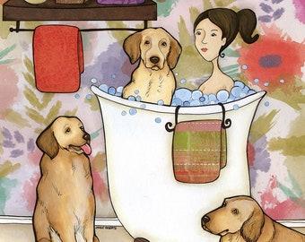 Dingleberry Wash- Original mixed media painting