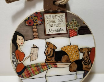 One More Airedale ornament