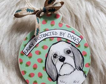 Shih tzu ornament
