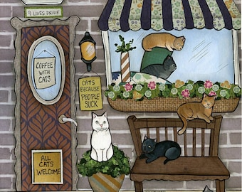 Cats, art print