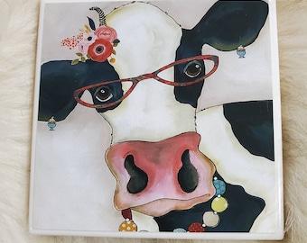 Moo Moo Nanny, cow coaster