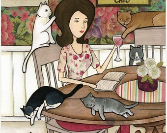 With My Cats, wall art
