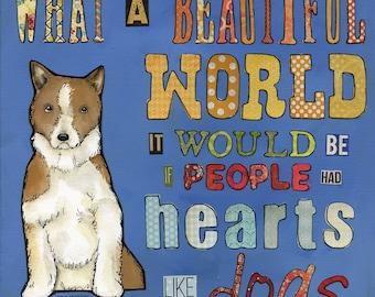 Hearts Like Dogs, art print