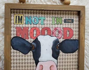 Moood, original cow painting