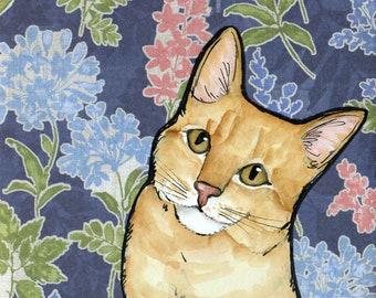 Kitty Treat, cat art print