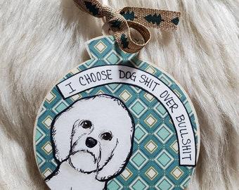 Bichon dog ornament