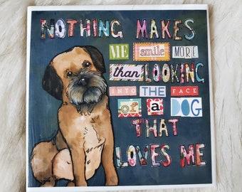 That Loves Me coaster, border terrier