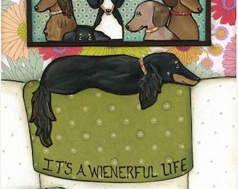 Wienerful Life, art print