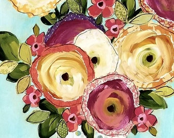 Fall In Love, flower art print