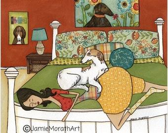 Where My Borzoi Is, dog art print