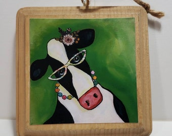 Cow Ornament green
