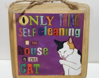 Self Cleaning Cat ornament