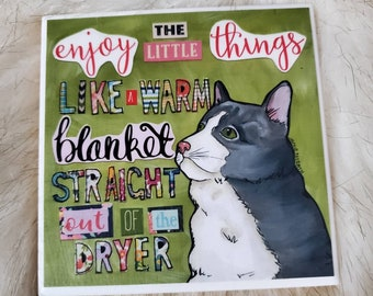 Warm Blanket coaster, cat gifts