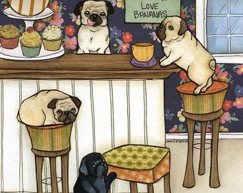 Monkeys Love, art print