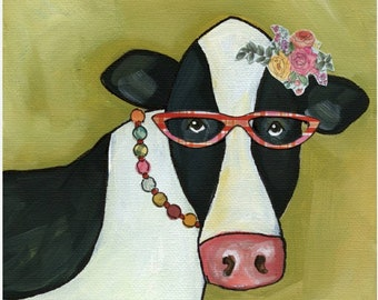 Cow Betty, art print