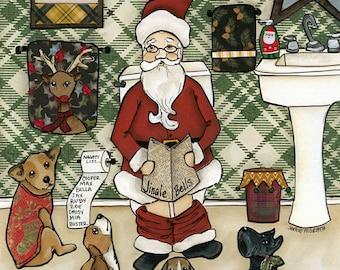 Merry Shitsmas, Christmas art print