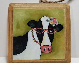 Cow Ornament light green