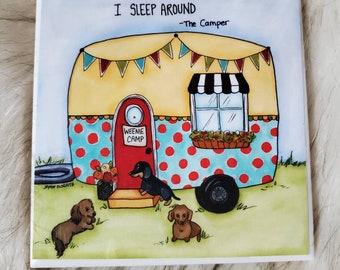 The Camper coaster, dachshund