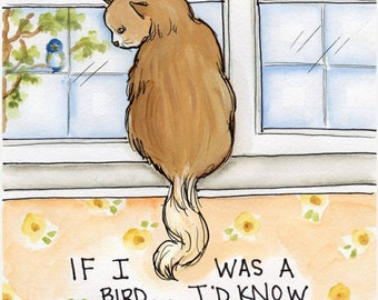 If I Was a Bird, art print
