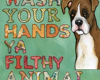 Filthy Animal, art print