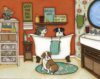 Wash Your Bulldogs DISCOUNTED PRINTS