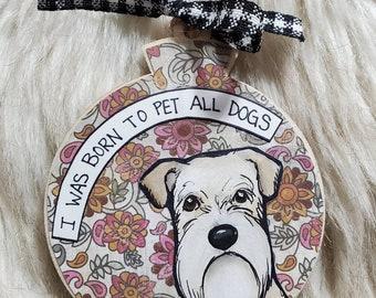 Wheaton Terrier dog ornament