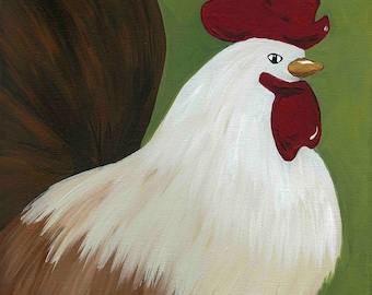 Bobby Roo, chicken art print