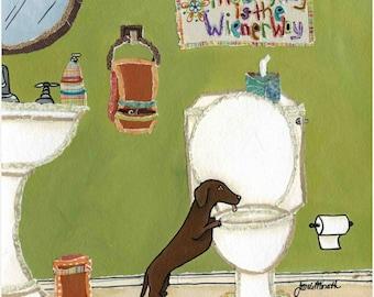Wiener Way, dachshund art print