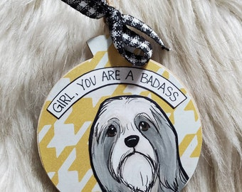 Bearded Collie dog ornament