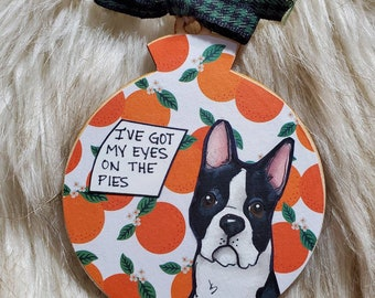 Boston Terrier dog ornament