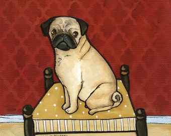 Lady Pug, art print