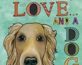 Love Dog, art print