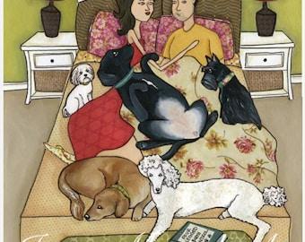 Birth Control, dog art print