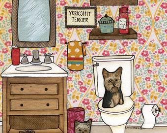 Yorkshit Terrier, art print