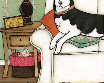 Husky-Fetti- original mixed media painting