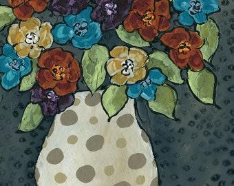 Material Girl, flower art print