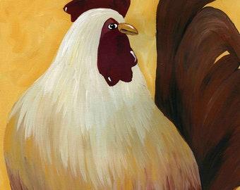 Rosco, chicken art print
