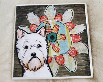 Westoe Flower coaster