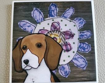 Beagle Flower coaster