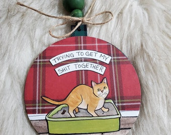 Shit Together Cat ornament