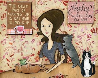 Cat Hair, art print