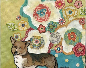 Corgi, dog art print