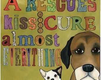 A Rescue's Kiss, art print