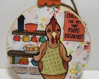 Chickens Poop ornament