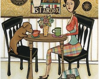 Stardox, dog art print